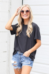 Black - Relaxed Fit Basic Tee from Dress Up