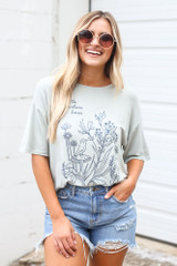 Model wearing the Little Nature Lover Graphic Tee