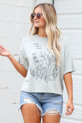Dress Up model wearing the Little Nature Lover Graphic Tee