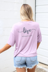 Lavender - Dream + Love Graphic Tee Back View