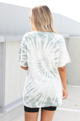 Tie-Dye Boyfriend Tee in Mint Back View