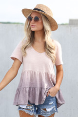 Lilac - Ombre Babydoll Top from Dress Up