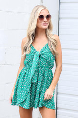Green - Floral Romper from Dress Up
