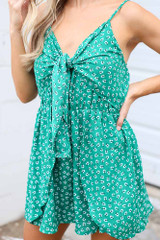 Close Up of the Floral Romper
