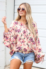 Model wearing the Floral Oversized Blouse