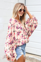 Floral Oversized Blouse Side View