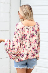 Floral Oversized Blouse Back View