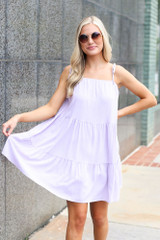 Model wearing the Tiered Babydoll Dress