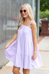 Tiered Babydoll Dress Side View
