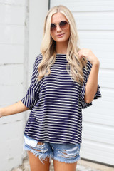 Dress Up model wearing the Ruffle Sleeve Tee