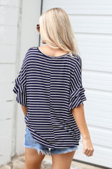 Ruffle Sleeve Tee Back View