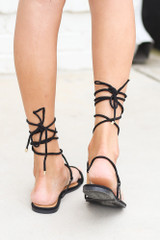 Back View of the Lace-Up Sandals