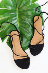 Black - Lace-Up Sandals from Dress Up