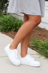 Side View of the Platform Sneakers
