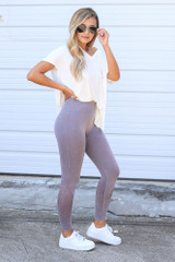 Seamless High-Waisted Leggings Side View