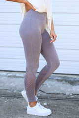 Dress Up model wearing the Seamless High-Waisted Leggings Side View