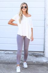 Seamless High-Waisted Leggings Front View