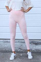 Lacey High-Waisted Ribbed Leggings
