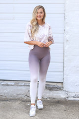 Mauve - Ombre High-Waisted Leggings