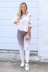 Ombre High-Waisted Leggings Front View