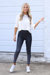 Model wearing the Ombre High-Waisted Leggings
