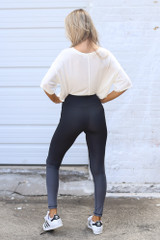 Ombre High-Waisted Leggings Back View