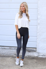 Dress Up model wearing the Ombre High-Waisted Leggings