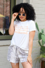 White - Weekend Graphic Tee