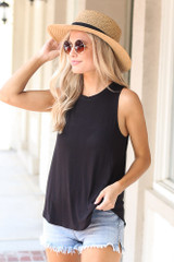 Black - Jersey Knit Tank Top from Dress Up