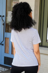 Striped Relaxed Fit Tee Back View