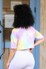 Cropped Tie-Dye Tee Back View
