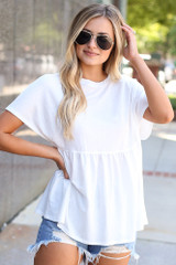 Ivory - Babydoll Top from Dress Up