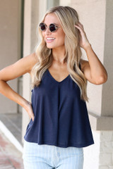 Navy - Relaxed Fit Tank