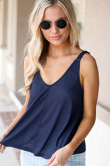 Navy - Relaxed Fit Tank from Dress Up