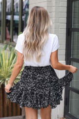Floral Swing Skirt Back View