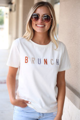 Ivory - Brunch Graphic Tee from Dress Up