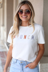 Model wearing the Brunch Graphic Tee