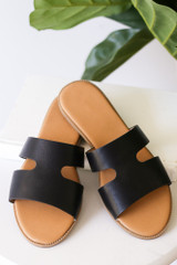 Black - Cutout Slip On Sandals from Dress Up