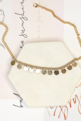 Gold - Circle Pendant Necklace from Dress Up