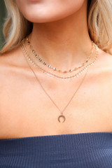 Model wearing a Layered Necklace