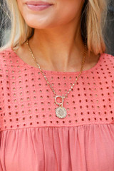 Gold - Coin Necklace