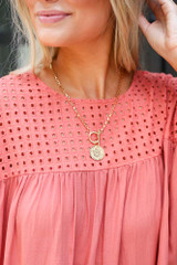 Model wearing the Coin Necklace