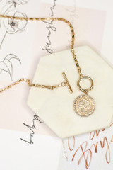 Flat Lay of the Coin Necklace