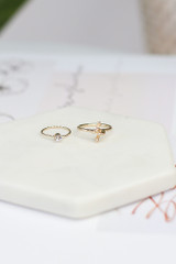 Flat Lay of 2 of the rings in the Knotted Ring Set