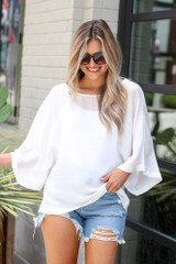 White - Oversized Blouse from Dress Up
