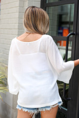 Oversized Blouse Back View