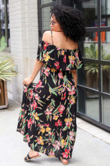 Floral Maxi Dress Back View