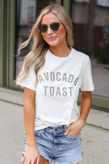 Model wearing the Avocado Toast Graphic Tee