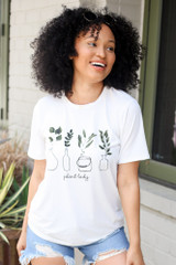 White - Plant Lady Graphic Tee