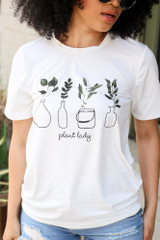 White - Plant Lady Graphic Tee from Dress Up